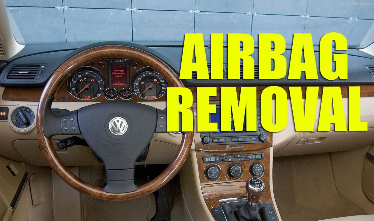 How to remove the steering wheel airbag on VW Golf Mk5