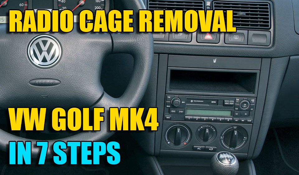 How to remove replace radio console dash on VW Golf Mk4