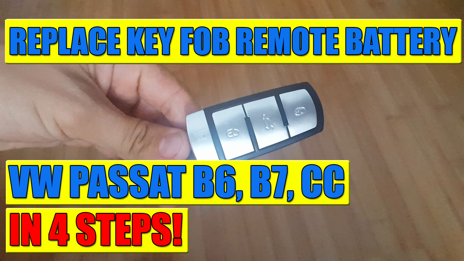 how to replace vw passat b6 b7 cc kessy key remote battery video. Black Bedroom Furniture Sets. Home Design Ideas
