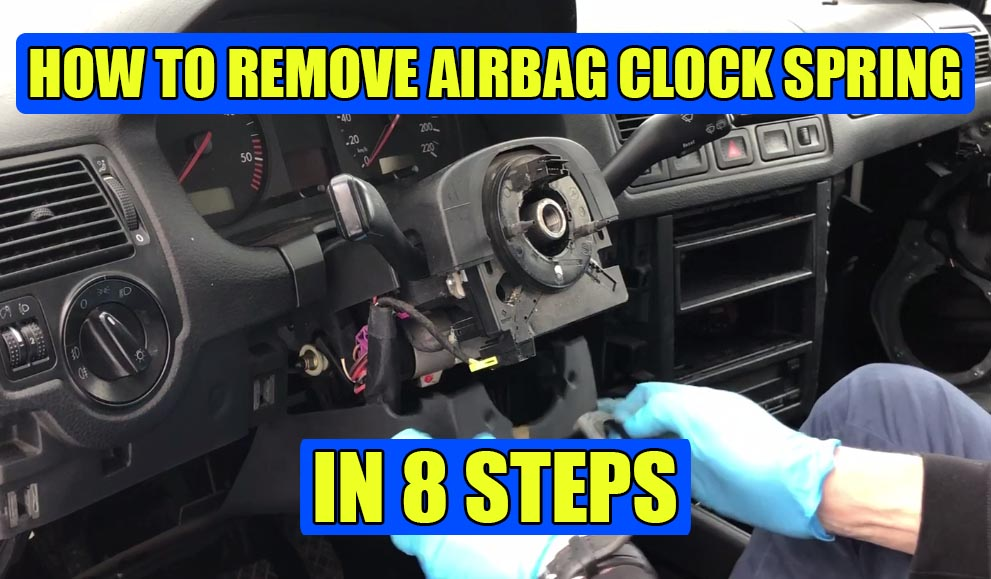 How to remove clock spring airbag spiral cable VW Golf Mk4, Bora, Jetta!
