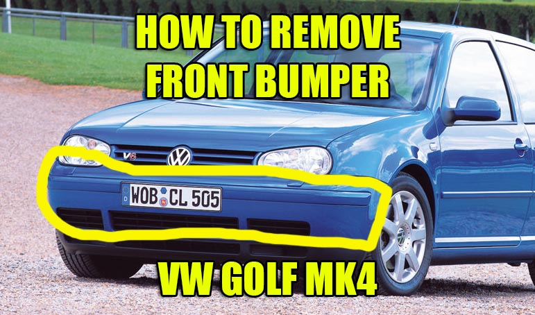 mk4 golf front bumper removal