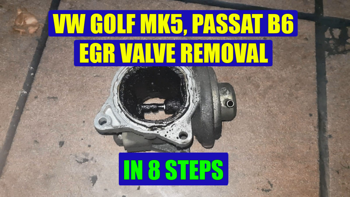 how to remove replace egr valve vw golf mk5 jetta. Black Bedroom Furniture Sets. Home Design Ideas
