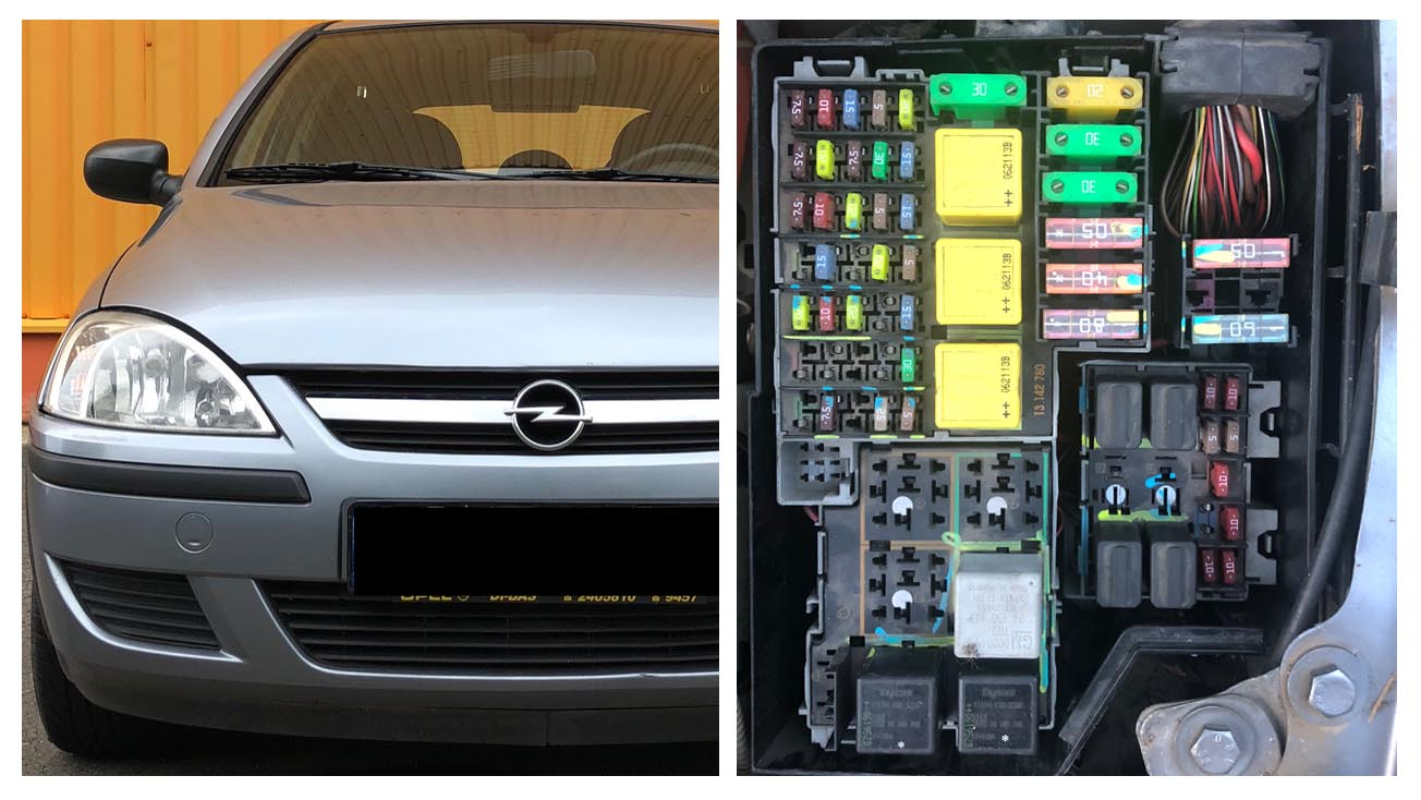 opel / vauxhall corsa c (2000 - 2006) fuses and relay box location  tutoriale din service