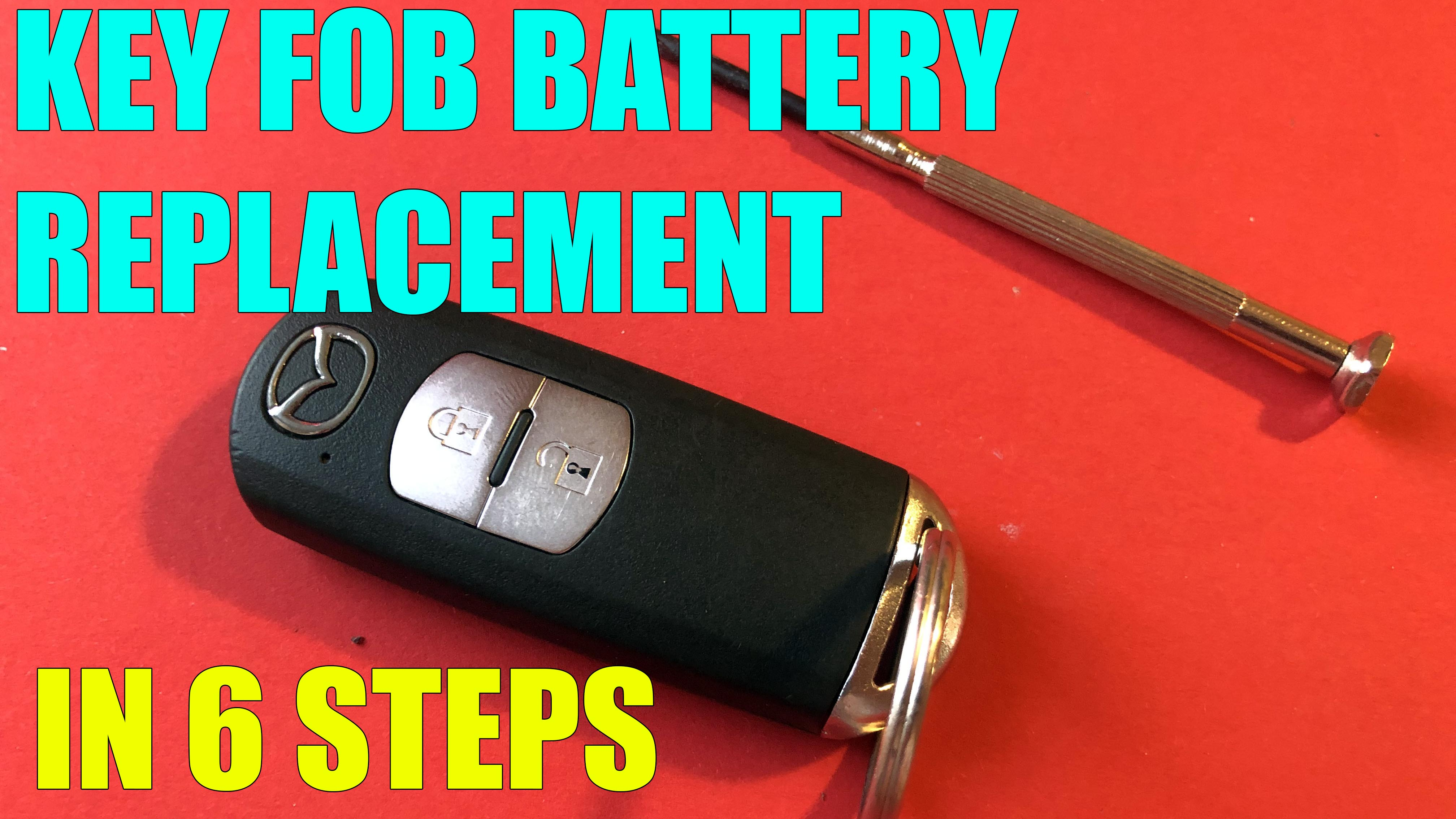 Mazda 3 Key Fob Battery >> How to replace the key fob battery Mazda 3, Mazda 6, CX-5 ...