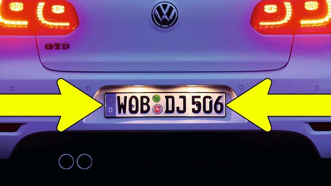 How to install LED number plate lights on VW Golf Mk5, Mk6, Passat