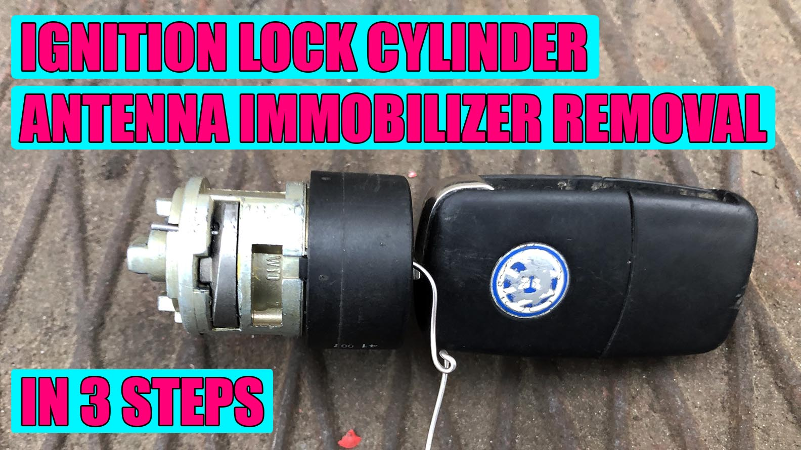 How To Remove Ignition Lock Cylinder Immobilizer Antenna Vw Golf Mk4