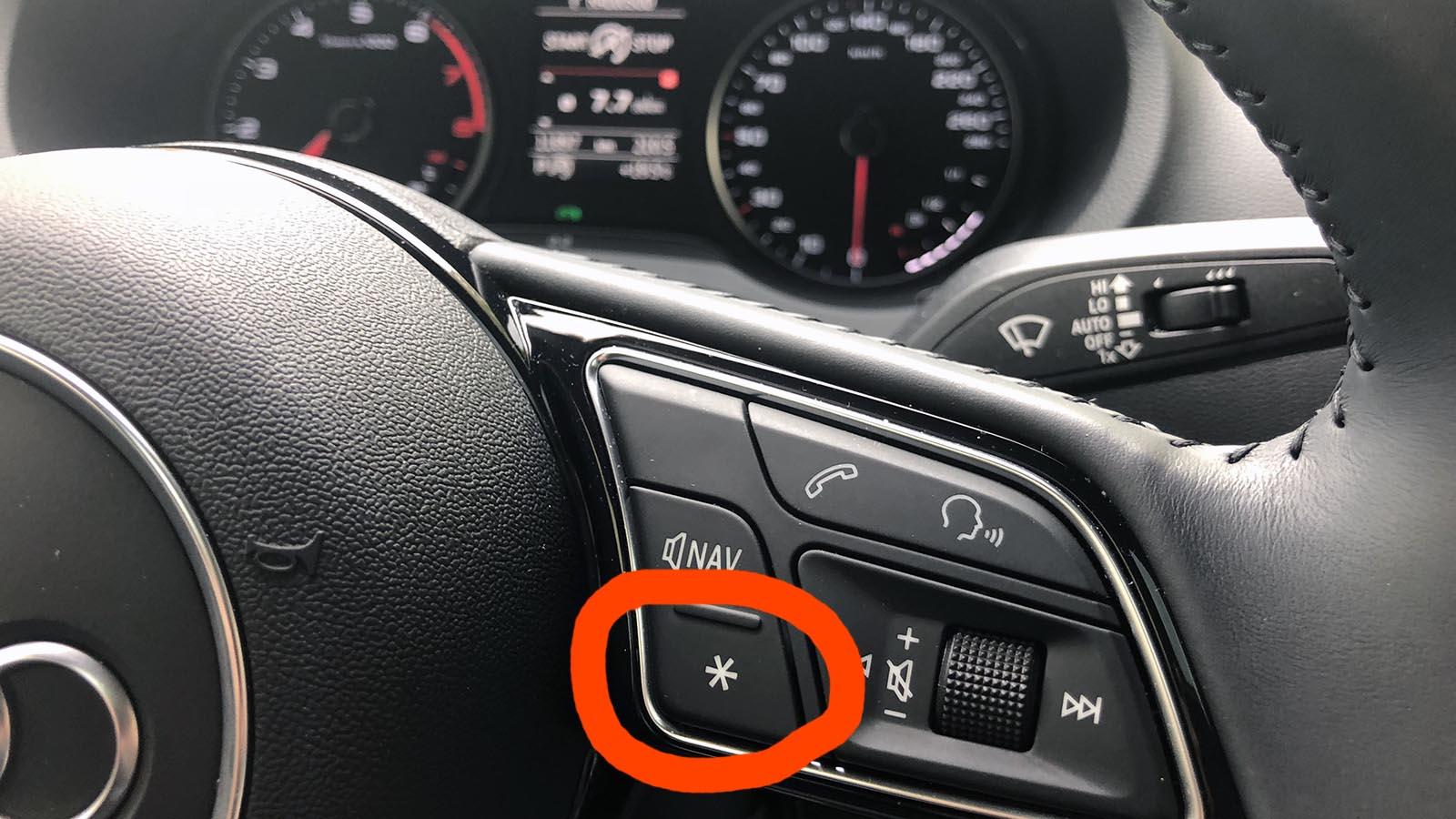 What This Star Button Do From Audi A1 A3 A4 A5 A6 A8 Steering Wheel