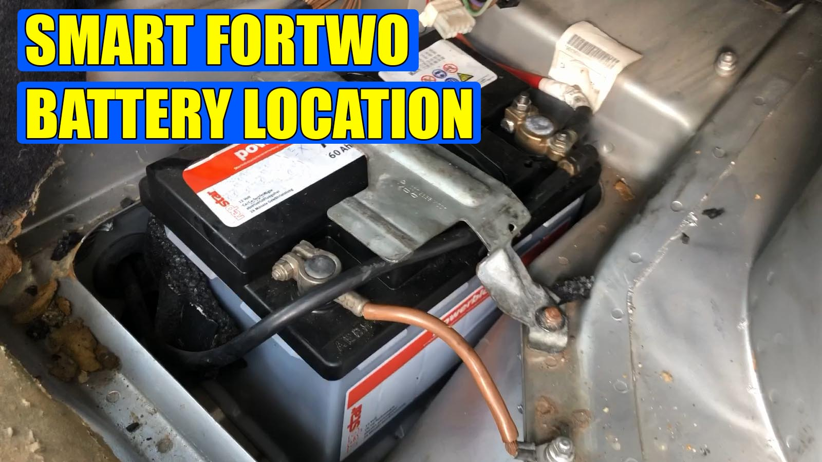 Smart Fortwo Battery Location Video