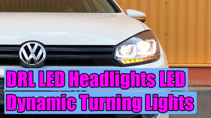 How To Install Drl Led Headlights 3d U Design For Vw Golf