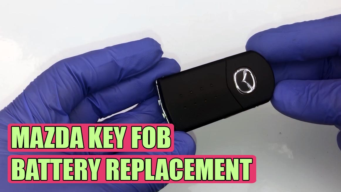 mazda battery key rx8 replace cx7 bt fog steps tutorial simple fob replacement