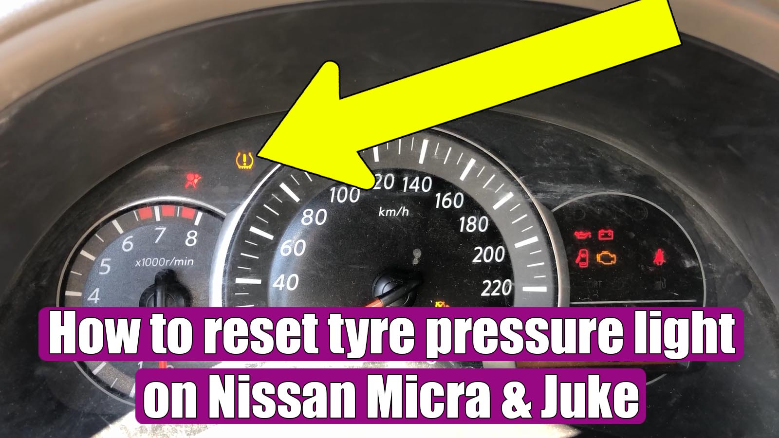 How To Reset Tyre Pressure System Light Tpms On Nissan Micra Juke