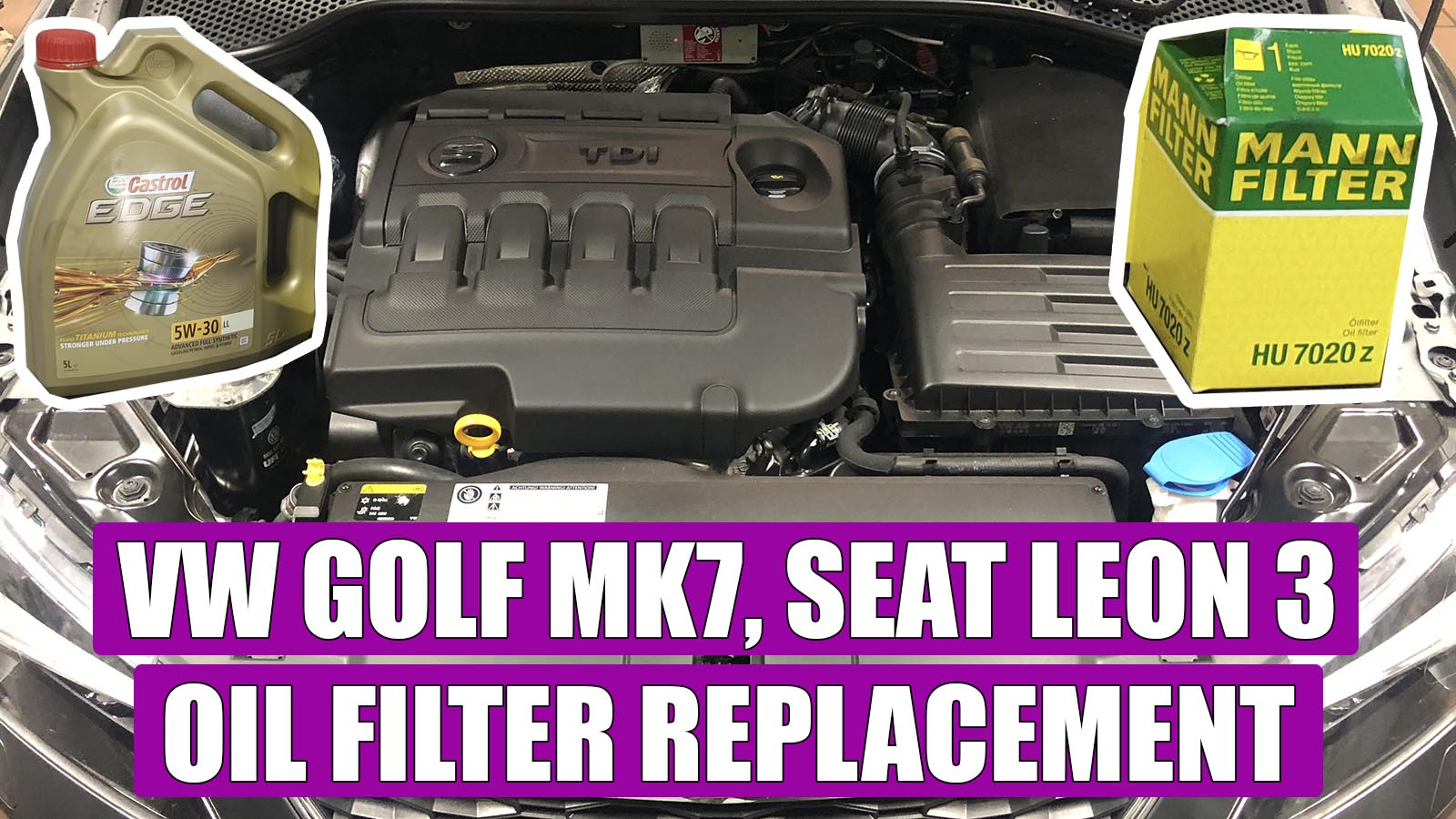 How To Replace Oil Filter Seat Leon 3 Vw Golf Mk7 A3 2 0 Tdi 150 Cp