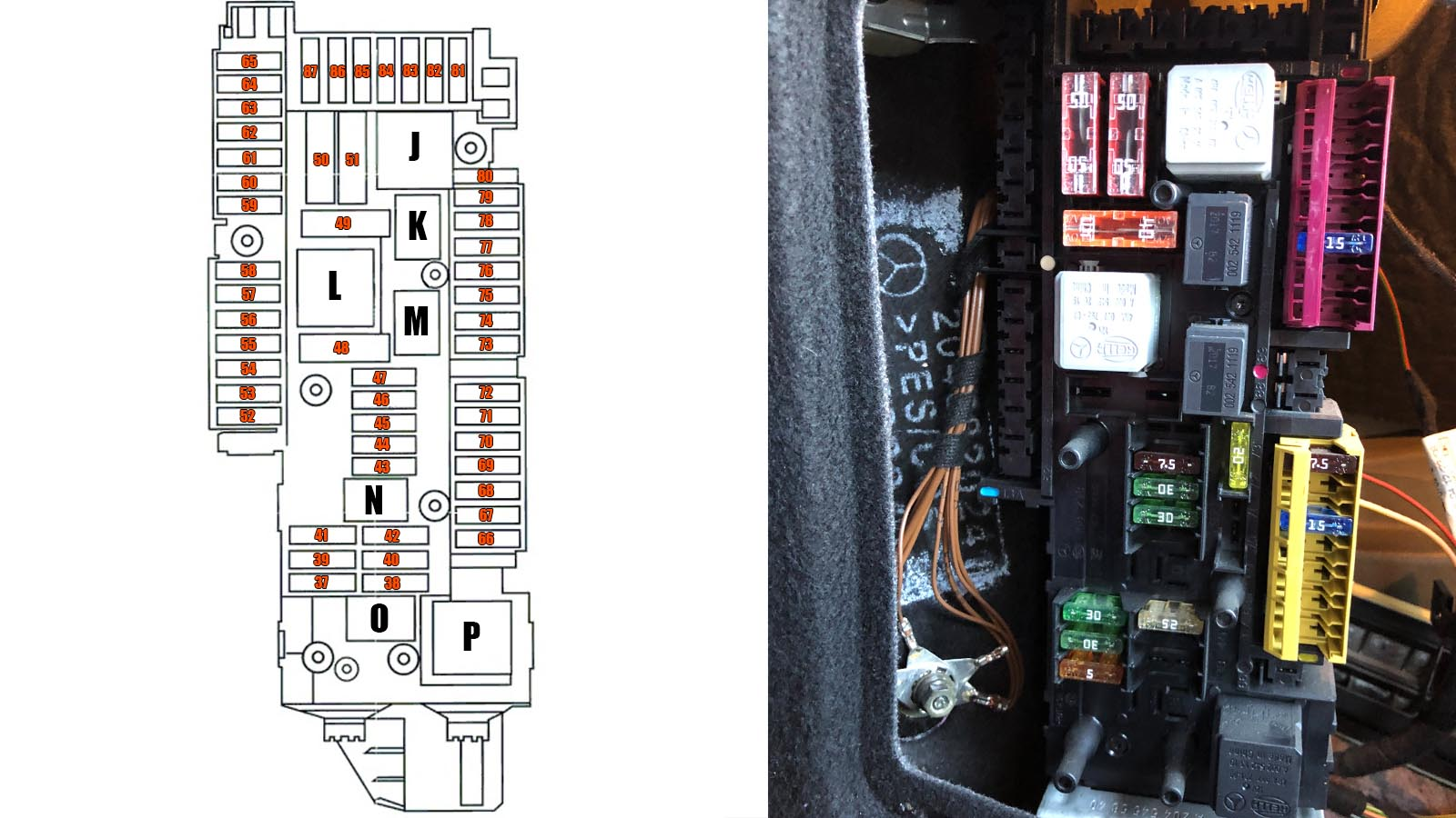 mercedes-benz c-class w204 (2008-2014) fuses and relay diagram  tutoriale din service